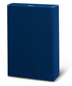 Wein-Geschenkkarton blau für 6 Flaschen